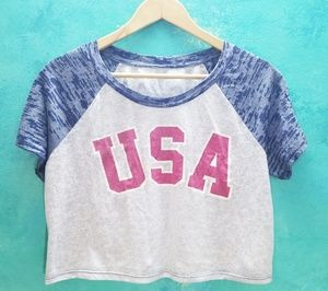 NWOT 🇺🇸 USA Crop Top